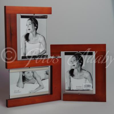 Marco madera 3 10x15 giratorio fotos adaby - Marcos de fotos multiples ...