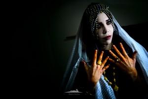 retrato de novia saharaui