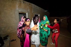 guiando a novia saharaui
