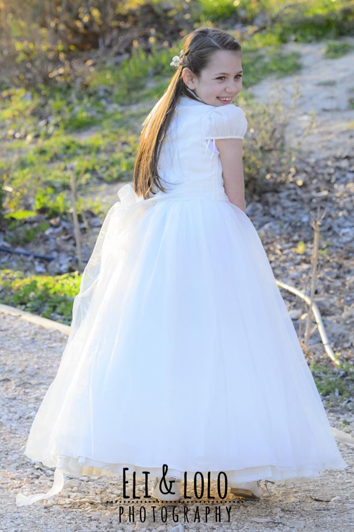 espalda vestido de comunion