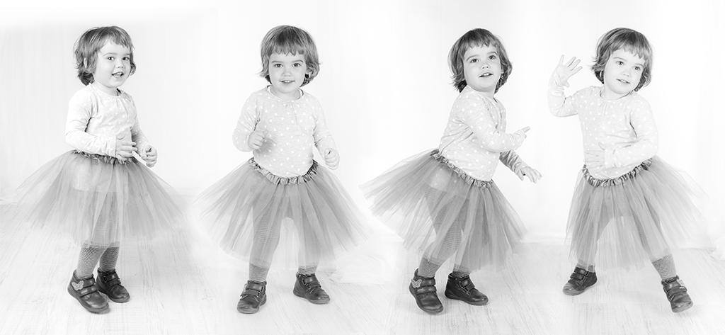 bebe bailando