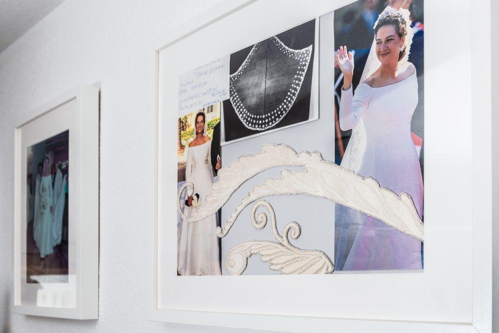 detalle vestido infanta Cristina Atelier Antonio Ramos