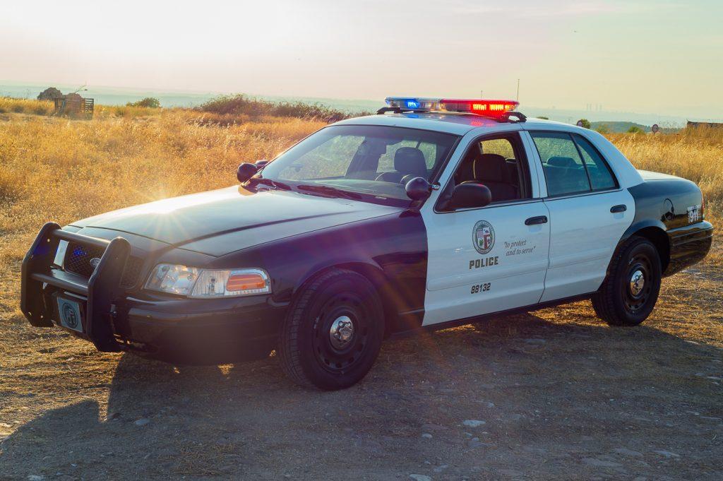 coche policia LA